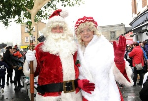 "Santa and ""Mrs Claus"""